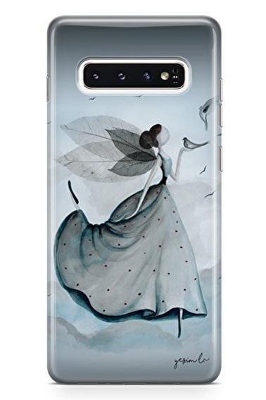 Lopard Samsung Galaxy S10 Plus Kılıf Uçur Sevgini Kapak Renkli